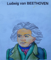 Ava, coloriage Beethoven