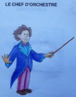 Ava, coloriage chef d'orchestre