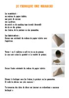 fabrication maracas