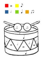 coloriage magique tambour